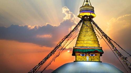 Boudhanath Stupa Stunning Buddhist stupa of Tibetan in Nepal-3